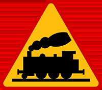 Znalezione obrazy dla zapytania znak przejazd kolejowy